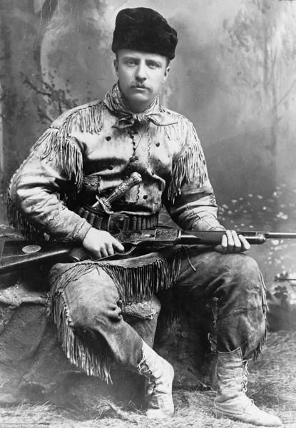 Theodore Roosevelt in Hunting Attire