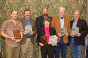Pinnacle Award Winners (L to R): Tony Bynum, Bill Miller, Kevin Tate, Tammy Sapp, J. Wayne Fears and J. Craig Haney